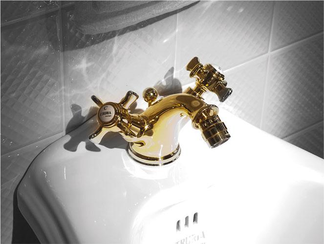 Rubinetti etruria design - Rubinetti bagno ottone ...